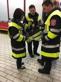 Diana Stachowitz bei der Freiwilligen Feuerwehr Moosach