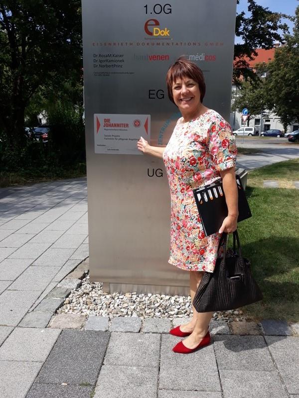 Diana Stachowitz, MdL vor Ort bei der Johanniter-Unfall-Hilfe e.V