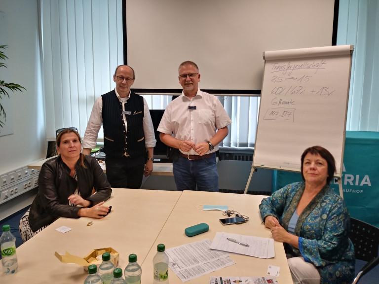 Julia Schönfeld-Knor, Manfred Kistler, Mathias Braasch und Diana Stachowitz, MdL im Gespräch